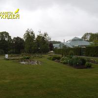 Садовые культуры с табличками  в парке