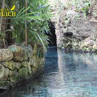 Голубые воды ручья парка