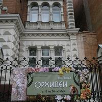 Объявление о выставке на фасаде музея