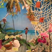 Орхидеи на фоне морского пейзажа